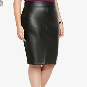 Torrid Faux Leather Midi Ponte skirt
